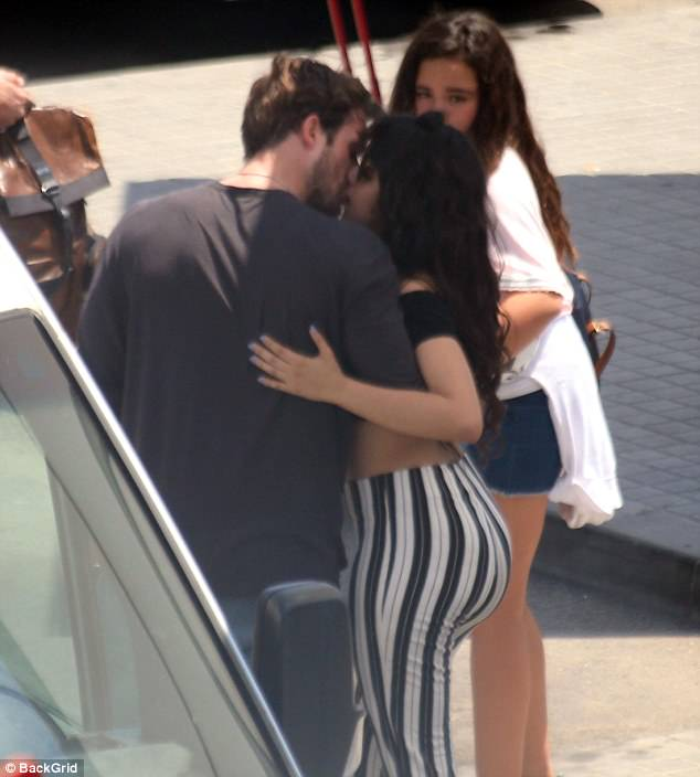 True love:At one point, Camila and Matt went in for a smooch as she laid her hand on his back