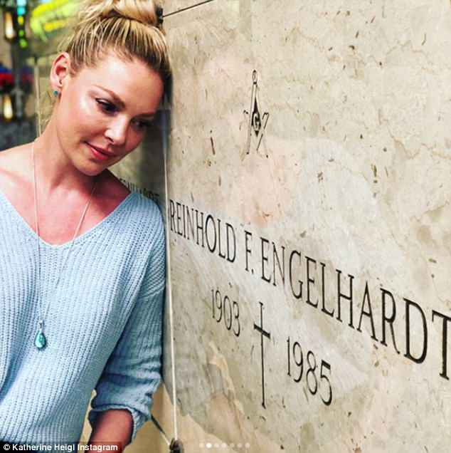 Another relative: She also  paid her respects to her grandfather, Reinhold F. Engelhardt, who died in 1985, age 82