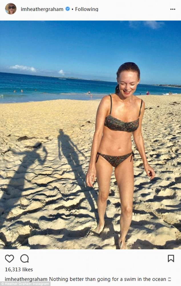 A 10:In early May she shocked her fans by sharing a bikini photo of herself where her body looked absolutely flawless. It doesn't appear as if she has aged a day since she co-starred with Mike Myers in Austin Powers: The Spy Who Shagged Me in 1999