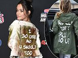 Disney teenage actress Jenna Ortega, 15,donned a jacket reading 'I do care and u should too' on the red carpet at the Radio Disney Music Awards on Friday night