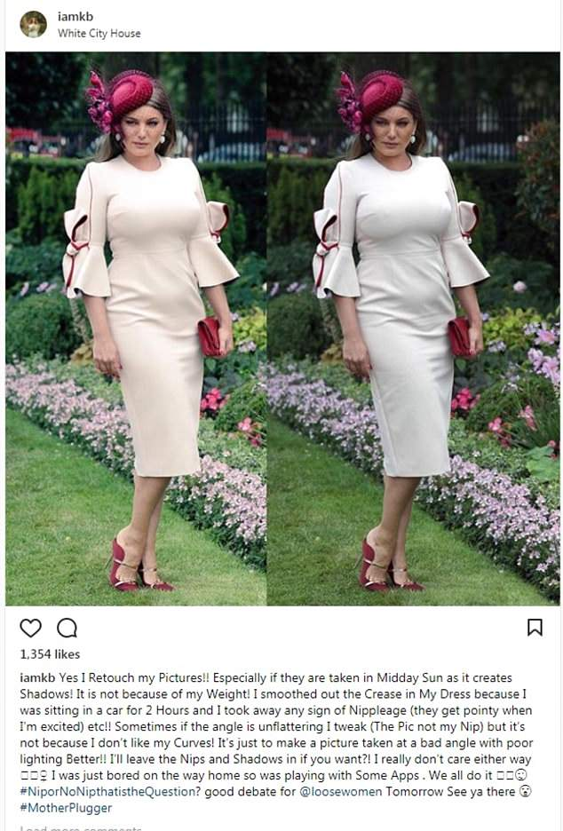 Speaking out: In a post that has since been deleted by the star, Kelly told her fans on Sunday that she does retouch her photos on social media, but only to rectify a 'bad angle'