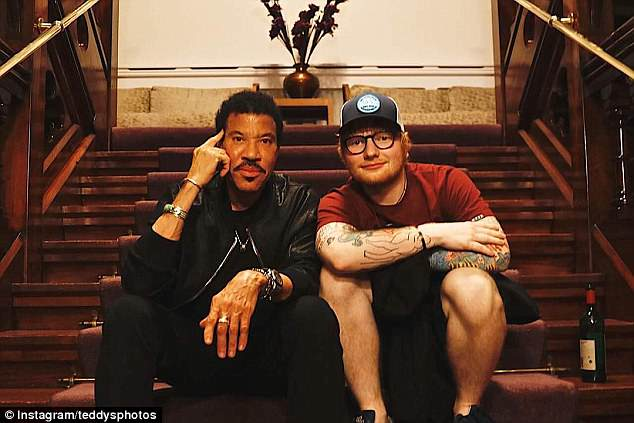 Cheers! Ed Sheeran enjoyed £750 bottles of red wine with Lionel Richie after their post-gig dinner date in Cardiff on Friday