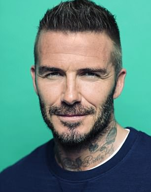 Handsome: David Beckham and Liam Payne also took part in the photoshoot ahead of the shoes going on display in a unique exhibition a the HENI gallery next month