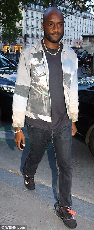It's in the jeans: Meanwhile, Virgil Abloh and A$AP Rocky stepped out in denim