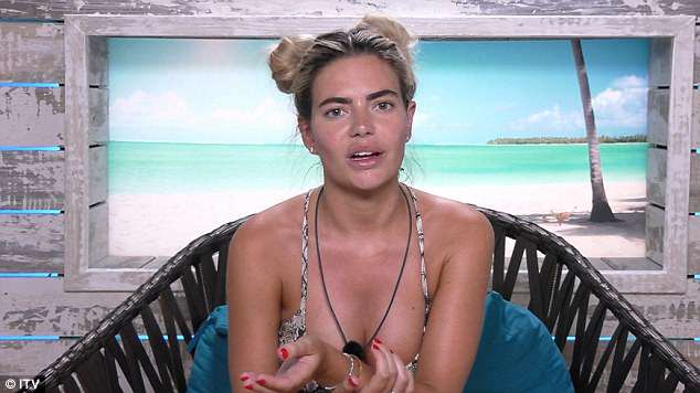 Cracks: Cracks are about to emerge in love birds Megan and Eyal's relationship on Monday's Love Island when she becomes increasingly concerned that the only connection between the two of them is sexual
