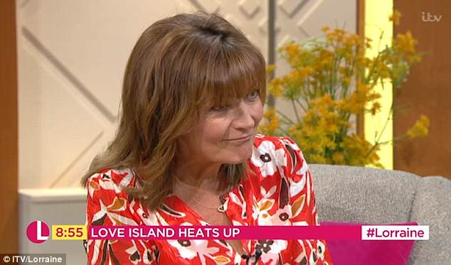 Agreed: Lorraine Kelly later criticised her for wanting more 'glamour' out of a law career