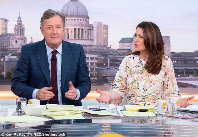 Two-faced: Blasting Piers for his words, she added: 'It's so ironic, you have lots of qualifications and consider yourself an intelligent person, and you're making a career on television'
