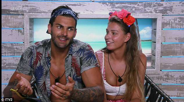 Moving on: Yet things soon turned sour between the pair when Adam expressed his interest in new girl Zara McDermott (right)