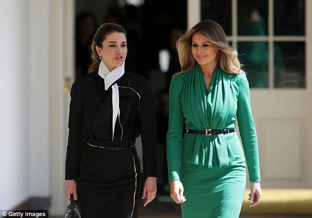 In April 2017, both women wore military style suits