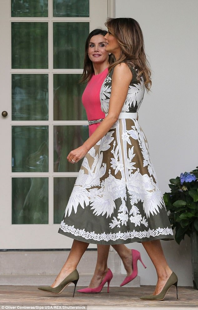 It's the second time in a week the first lady has had tea with a queen, she met with Queen Letizia of Spain last Tuesday