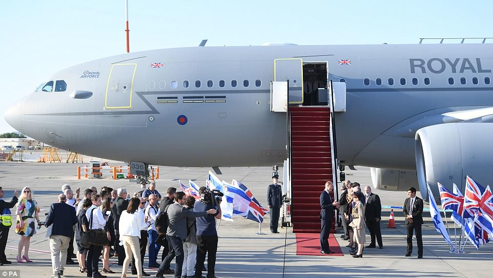 Prince William has taken his first historic steps on Israeli soil, becoming the only member of the British royal family to officially visit the Jewish state. His Royal Air Force plane landed at Tel Aviv's Ben-Gurion Airport at 4.16pm local time and he will now travel on to Jerusalem at the start of four-day trip that will include a visit to the occupied Palestinian territories