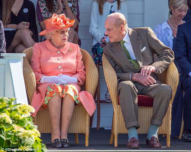 The Queen was at the Royal Windsor Cup at Guards Polo Club with the Duke of Edinburgh