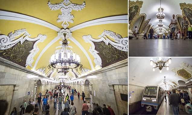 Moscow subway's stunning artwork that will greet World Cup fans