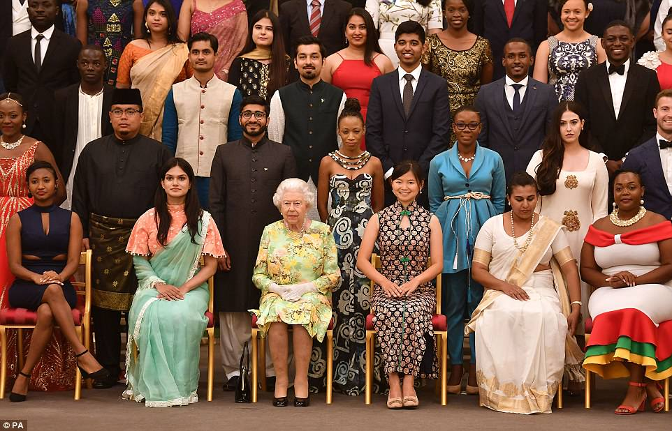 Taking the baton? The Queen (third left) recently appointed Harry as Commonwealth Youth Ambassador, on the eve of the biennial Commonwealth Heads of Government Meeting (CHOGM), and new the role will take him around the member states