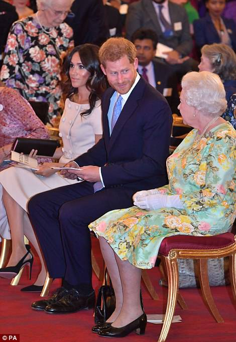 She joined Harry and the Queen