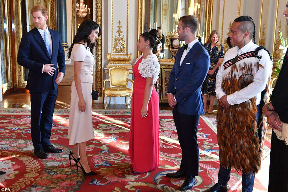 Harry and Meghan meet some of 2018's Young Leaders. The couplewill work both in the UK and abroad to highlight the value of the Commonwealth, and are understood to be planning a number of foreign tours to member states