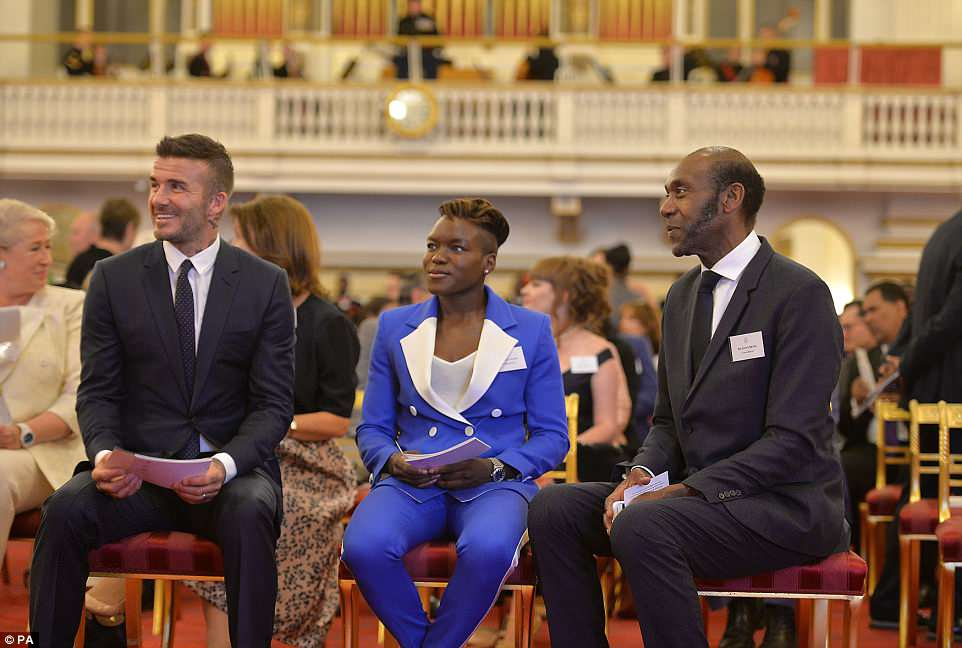 David Beckham, Nicola Adams and Sir Lenny Henry sit together ahead of the final Queen's Young Leaders Awards Ceremony. The Commonwealth is a global network of 53 countries and 2.4 billion people, of whom 60 per cent are under 30 years old