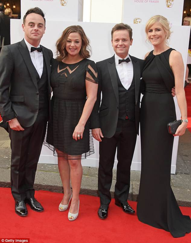 Happier times: The foursome had been firm friends for years, prior to Ant and Lisa's split last year (pictured together in 2015)