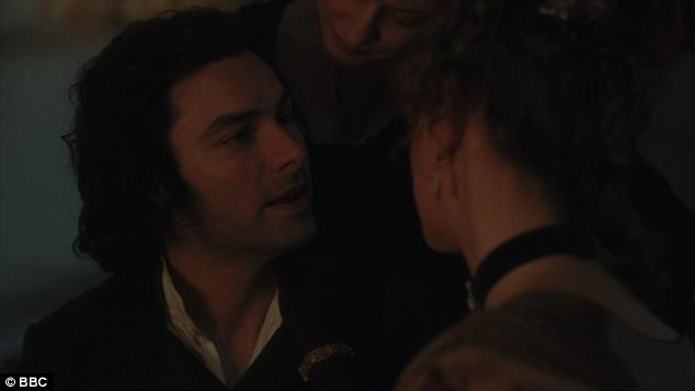 Seduced? Poldark was down in 'that London', attending a fancy ball and then retiring to his room with two ladies of dubious morals