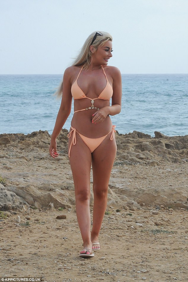 Looking good: Chloe looked sensational as she showed off her incredible figure in the bikini