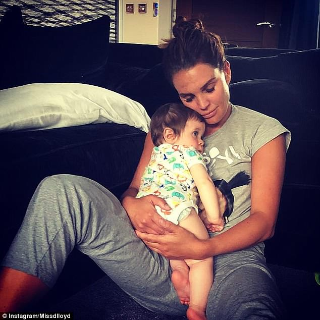Family: Danielle welcomed her fourth son, Ronnie, just nine months ago