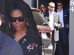 Michelle Obama was seen slipping out of the side door of Crossroads Kitchen, an upscale vegan restaurant on West Hollywood's famous Melrose Avenue