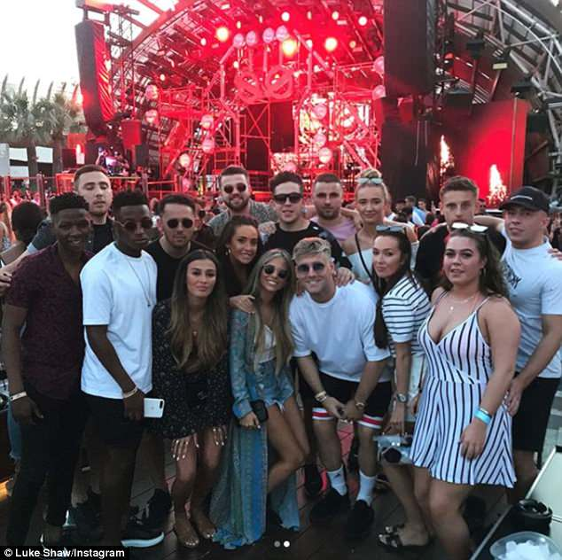 Isle be there for you: Since touching down, Luke took to Instagram to share a few snaps of the group enjoying their time together on the White Isle