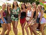 Party time! Revellers to this year's Isle of Wight festival were treated to blue skies and warm temperatures on the first day of the festival