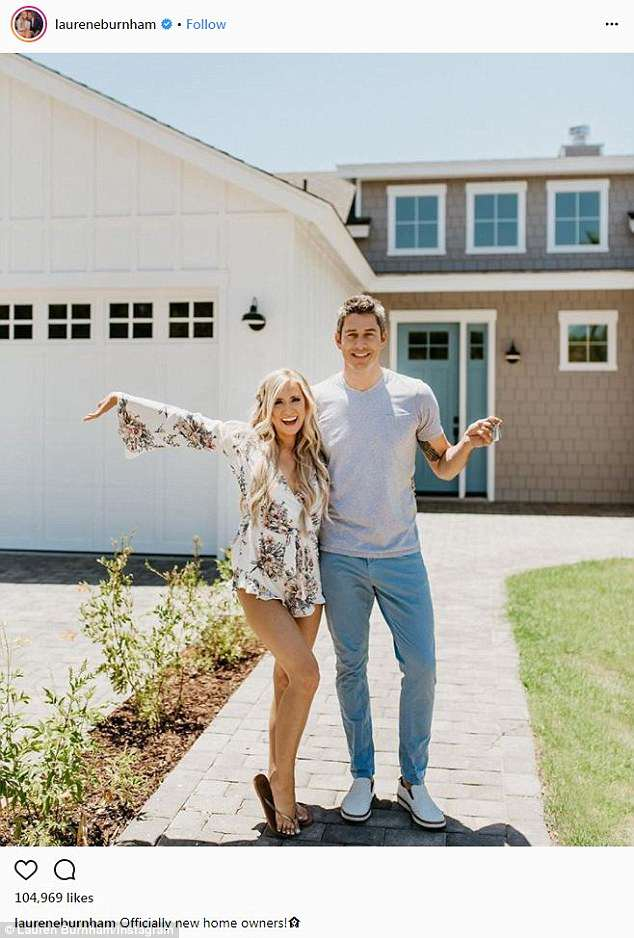Big step: Arie was living in a condo when he appeared on the show, which he and Lauren traded for their $870,000 2,607 square-feet home