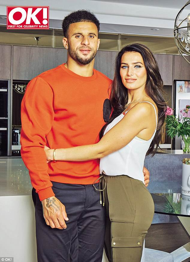 Babies on the brain: Kyle Walker's partner Annie Kilner has revealed that she wants to have a fourth baby with the footballer, in the hopes of finally getting a little girl