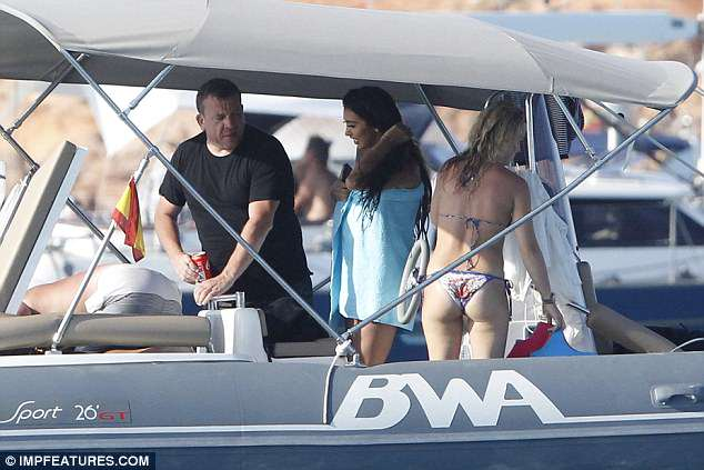 Wow: She looked astonishing as she relaxed on a lavish yacht during her sun-soaked getaway, in Formentera on Sunday
