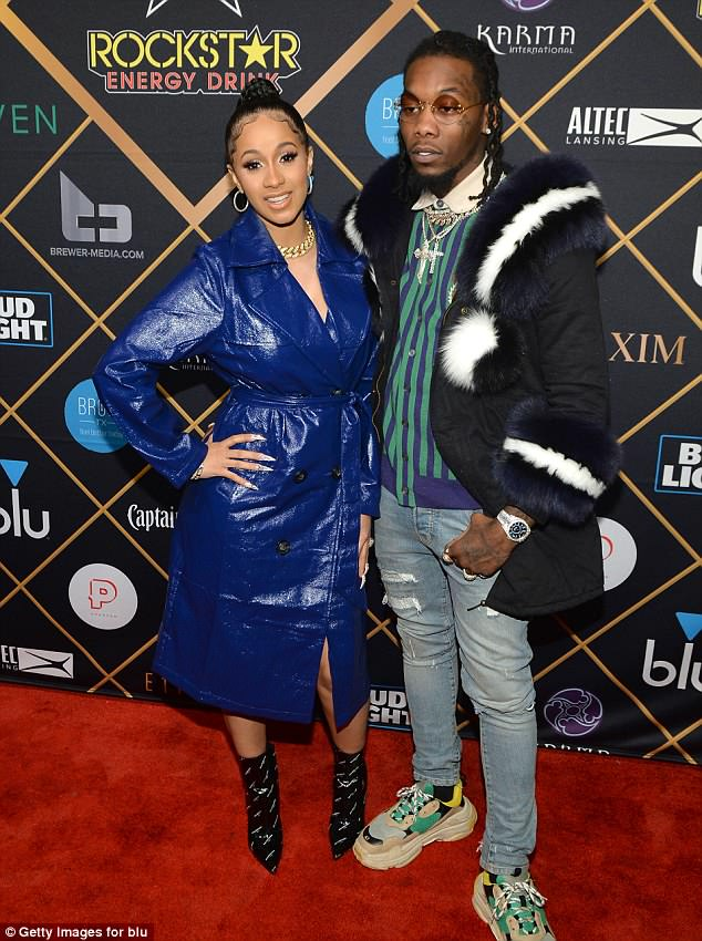 Beau: Cardi B is expecting her first child with her fiancé Offset. Pictured in February 2018