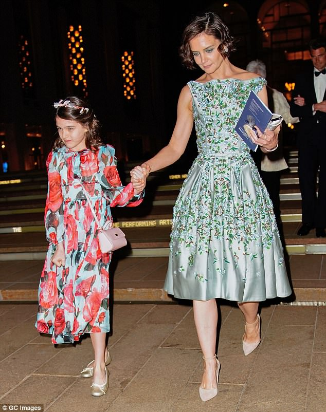 Single mom: Suri currently lives with her mom Katie Holmes in New York City (seen at the American Ballet in May 2018)