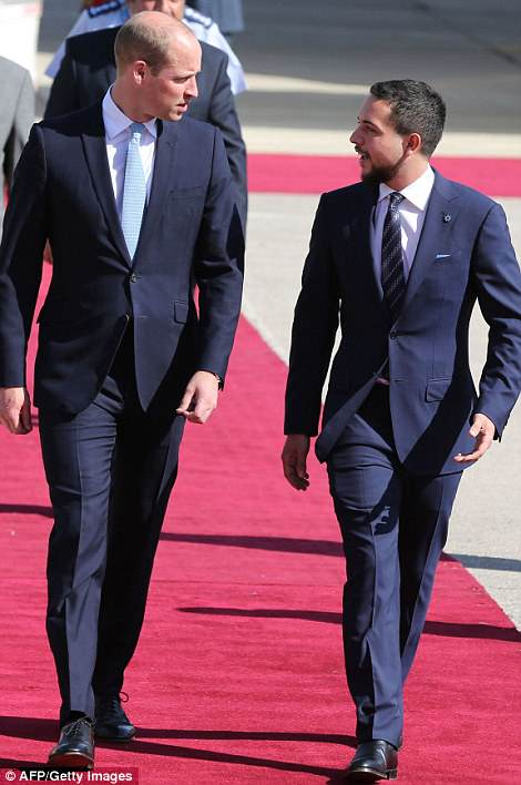 His visit to Amman will allow William to get to know Crown Prince Hussein, a fellow helicopter pilot and Sandhurst graduate
