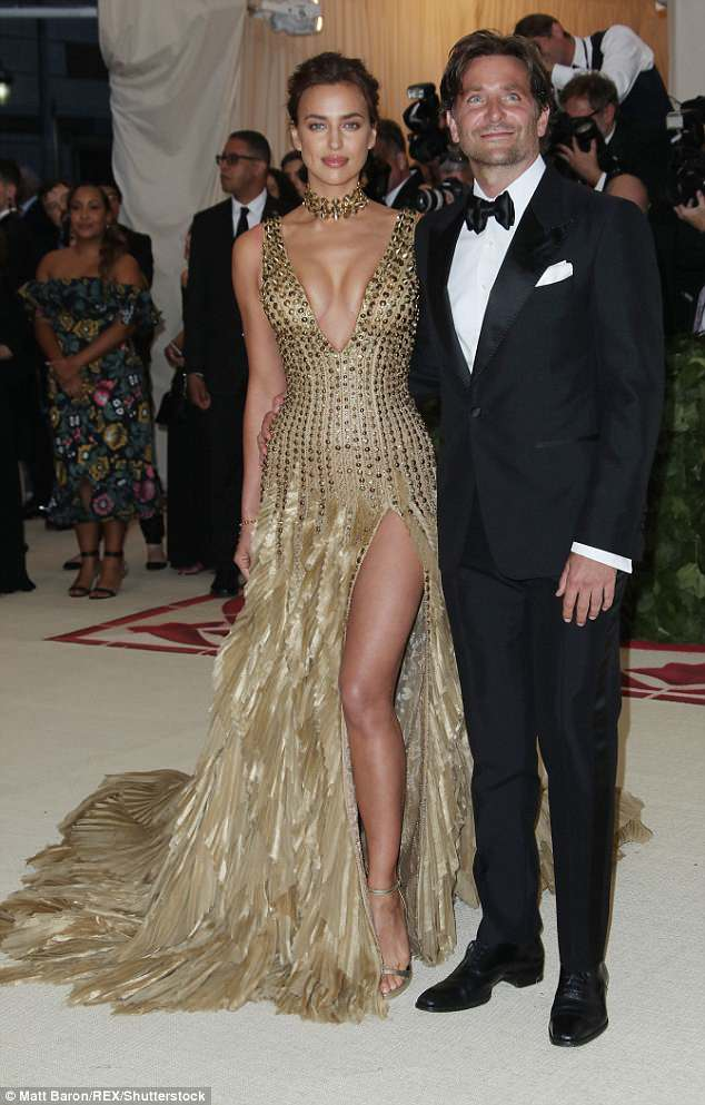 Happy couple:The mother-of-one has a daughter Lea, who she welcomed into the world in March 2017 with partner Bradley Cooper, 43 (the pair are pictured in May 2018)