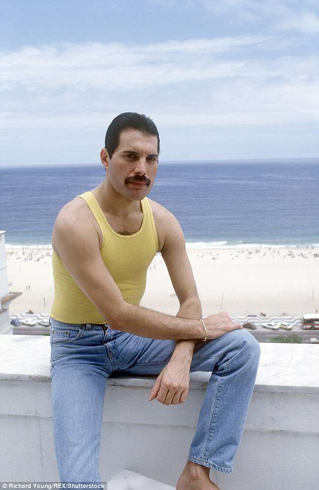 Sad: Freddie died on November 24, 1991 at the age of 45, due to complications with AIDS (pictured in 1985)