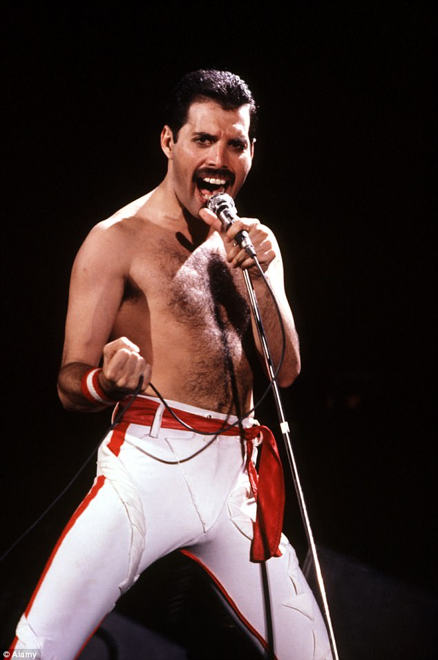 Loss: Freddie dodged rumours about his failing health for years after reportedly being diagnosed with AIDS in the late '80s - (pictured in 1982)