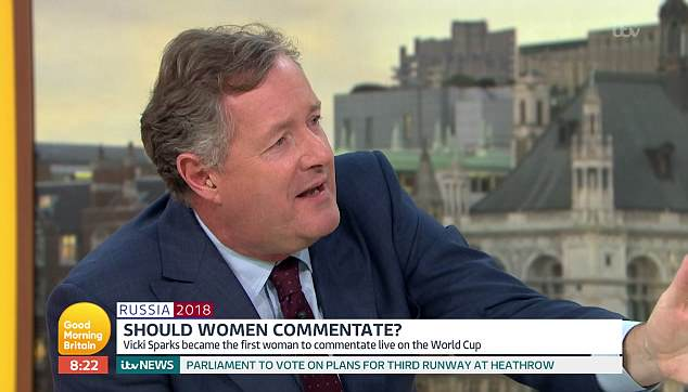 GMB host Piers Morgan said that Jason was being 'ridiculous' and branded him a 'sexist pig' over his comments