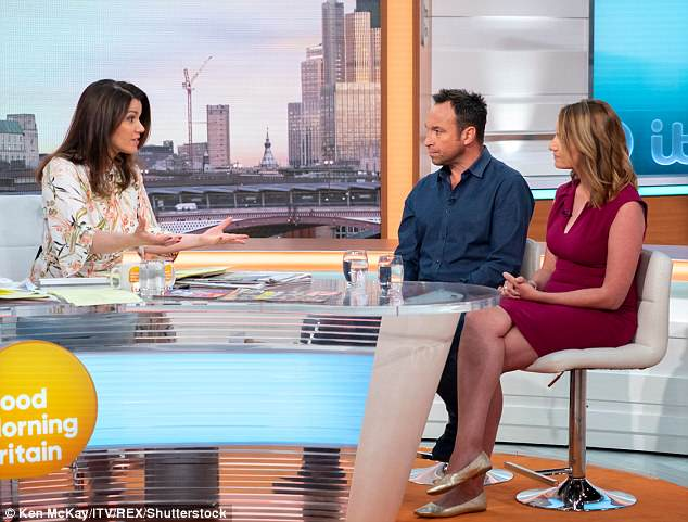 Not impressed:Piers' fellow GMB co-host Susanna Reid (far left) was unimpressed by Jason's opinion, pointing out that when his voice was compared in pitch to Sparks' it was actually in the same range