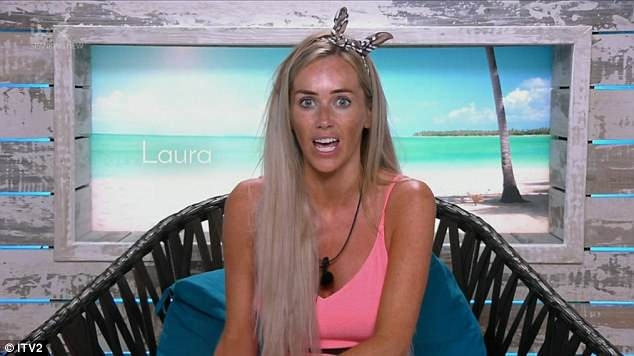 Furious: Following a challenge in which they had to label two bad traits about their partner, Laura shouted: You told me I was ignorant in front of everyone. I'm not ignorant!