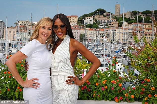 Paid gig: Before hitting up Paris, Naomi had visited Cannes for a panel discussion with broadcaster Tania Bryer