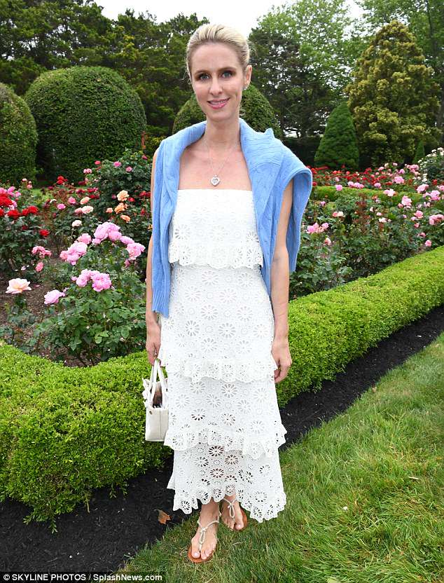 Garden party: Nicky Hilton looked lovely at the Annual Get Wild! Benefit in South Hampton on Sunday