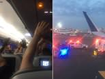 A massive police presence was reported at John F. Kennedy International Airport in New York on Tuesday night