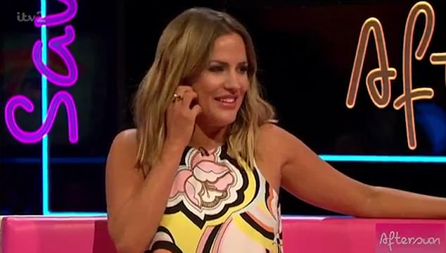 Jetting off:Caroline Flack was 'summoned' by the powers that be to get herself on the next flight to Mallorca to deliver the latest bombshell to the villa