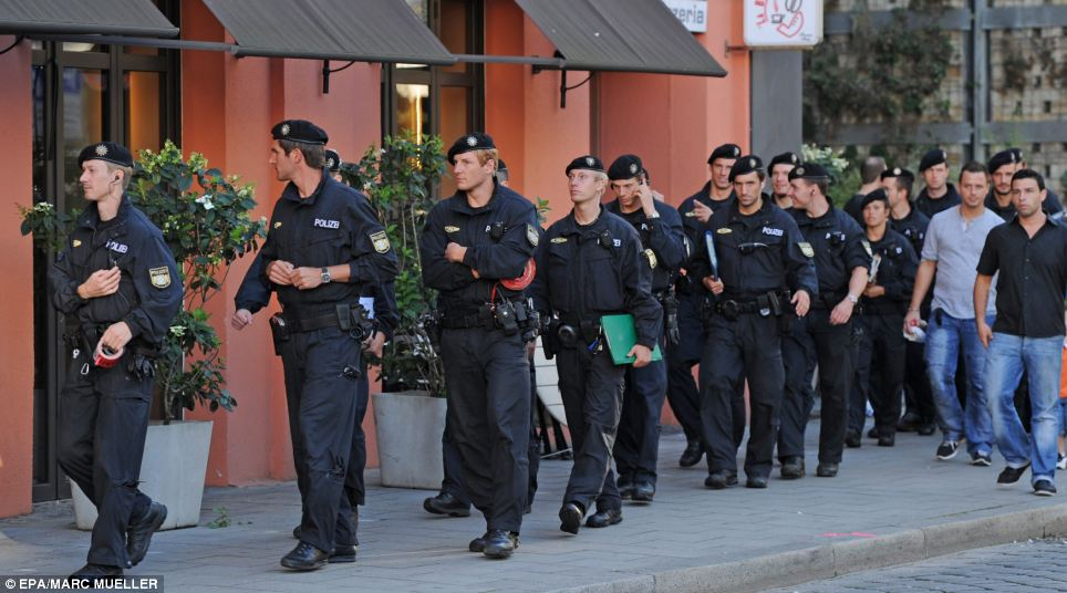 Safety: Officers launched a big operation to ensure the city's residents were kept safe