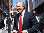Tony Blair (pictured in London today) is urging an extension of the March 2019 deadline as he ramps up his bid to head off the UK's departure from the bloc