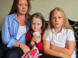 Janet Alexander (left) says her youngest daughter, Rosie (middle), was abducted while they were on holiday in Turkey with her other child Lois (right)