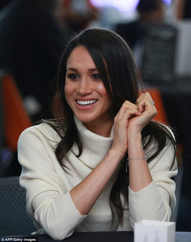 In the past Meghan has revealed that she avoided wearing any foundation unless she was filming on the set of Suits. Pictured in March
