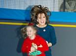 Natasha Kaplinsky, pictured with her daughter Angelica, were both injured after a fireball erupted on their boat off the coast of Corfu
