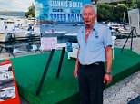 Hero hire boat owner Yannis Doumarapis, 67, (pictured) told MailOnline how he rescued TV star Natasha Kaplinsky and her family from their burning luxury yacht off the coast of Corfu